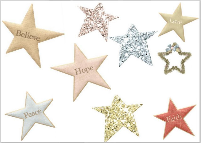 Stars of the Charming Christmas Clip Art.