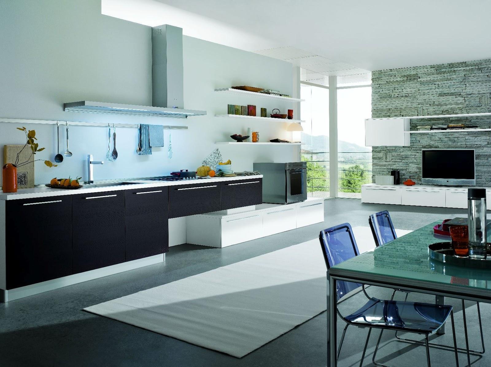 cuisine design ouverte sur le salon gara cuisine. Black Bedroom Furniture Sets. Home Design Ideas