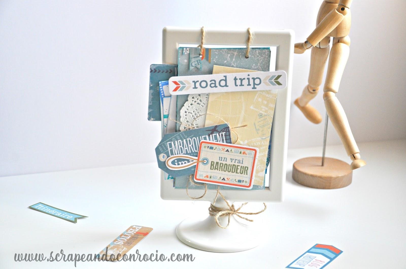 Scrapeando con Rocío: Tutorial mini álbum scrapbook de viaje en ...
