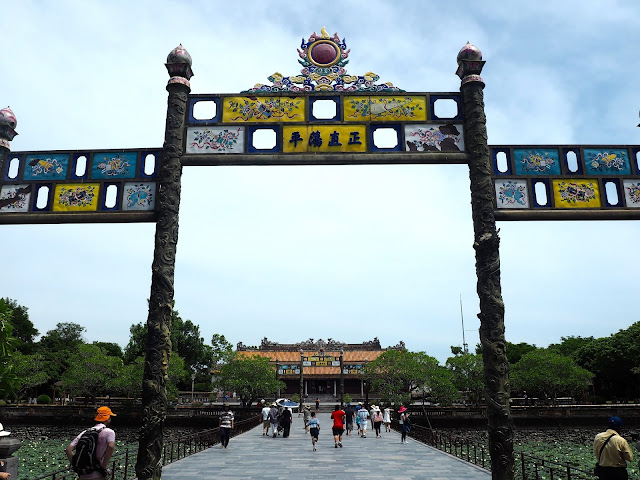 Entrance of the Imperial Citadel in Hue, Vietnam