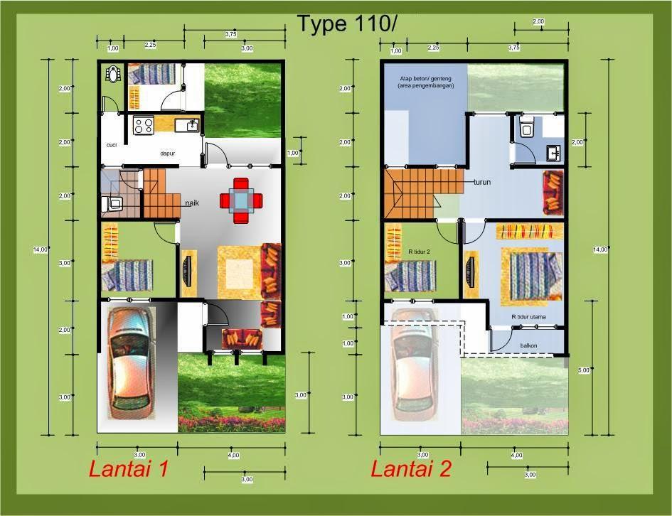 Desain Rumah Minimalis 2 Lantai Type 36/72 - Gambar Foto ...