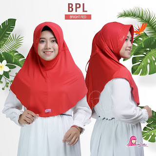 jilbab anak miulan bpl kids bright red