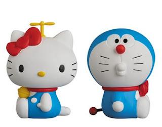 Gambar Doraemon dan Hello Kitty Lucu 3