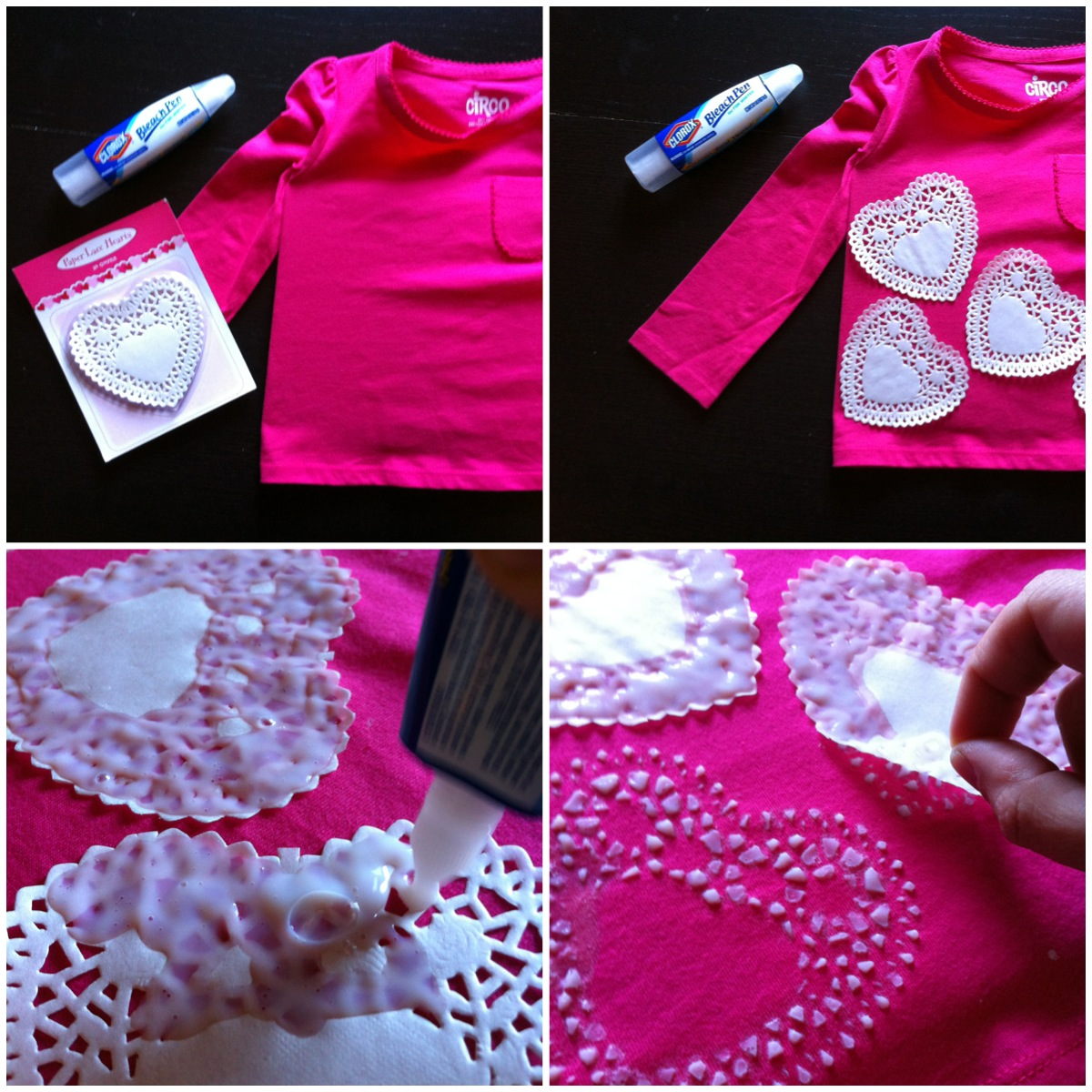 A Childhood List: 142) DIY Doily Heart Print T-Shirt