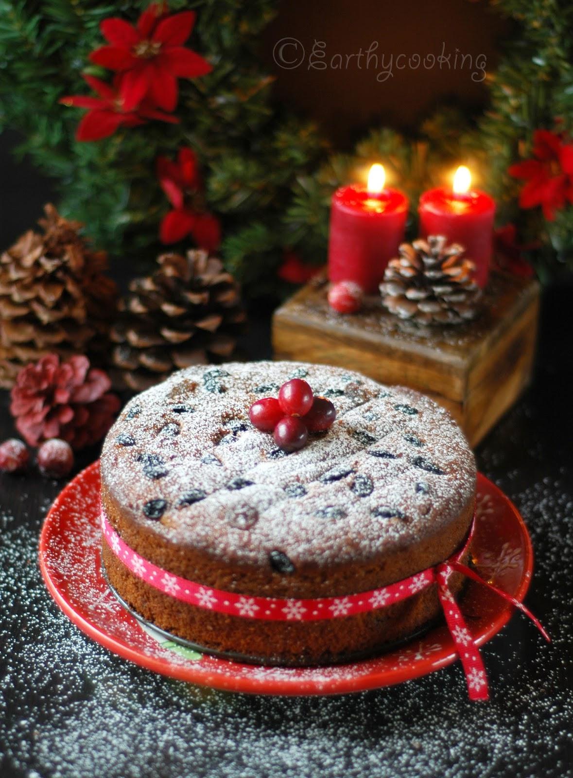 Earthycooking : Rum Soaked Christmas Fruit Cake