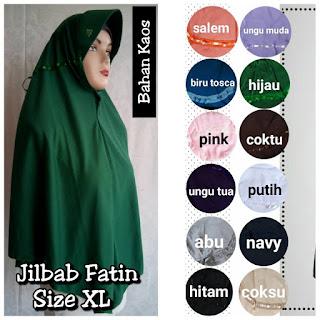 Jilbab Syar'i Fatin Model Serut Bahan Kaos Murah