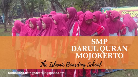 smp darul quran outbound rafting pacet mojokerto