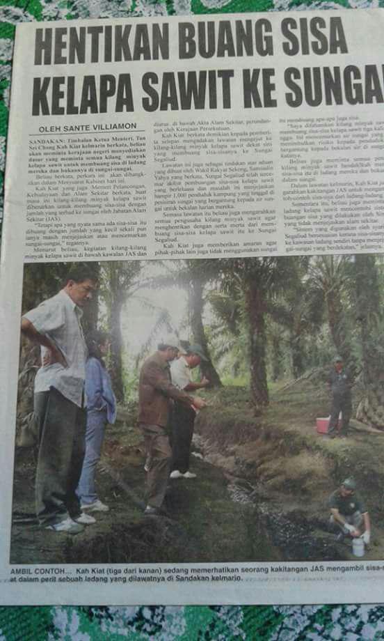 Cikgu Harthono Sungai Segaliud Terus Tercemar Hingga Kini