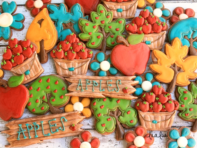 How to make decorated apple bushel cookies