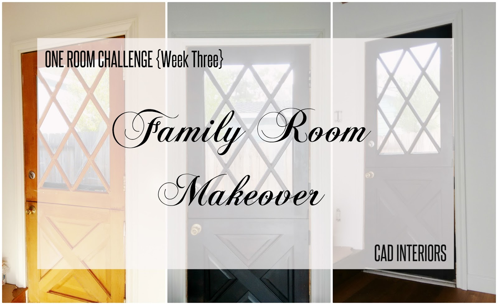 CAD INTERIORS family room remodel dutch door refinishing DIY project home improvement ORC
