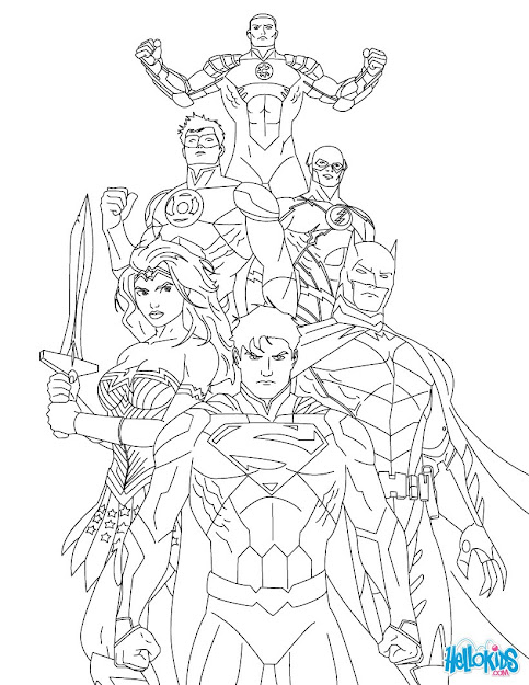 Best Free Superman Coloring Pages Image