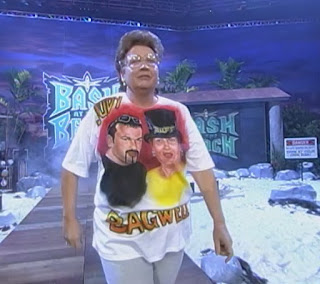 WCW Bash at the Beach 1999 - Judy Bagwell accompanied her son Buff in a boxing match agianst Booker T