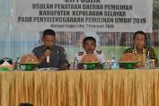 KPU Gelar Uji Publik Penataan Dapil Pemilu 2019 Di Kabupaten Kepulauan Selayar