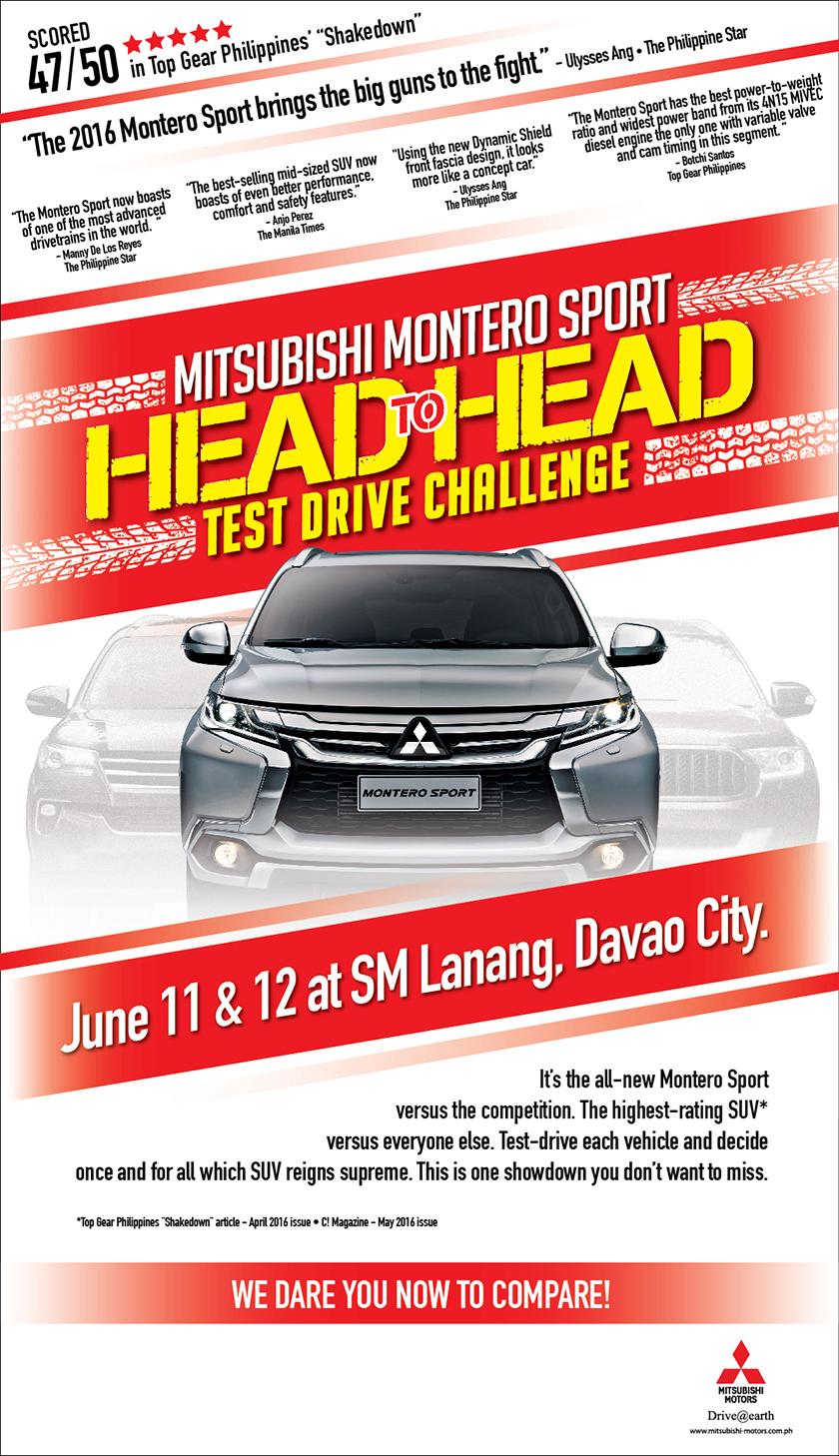 Montero Sport Head to Head Test Drive Challenge