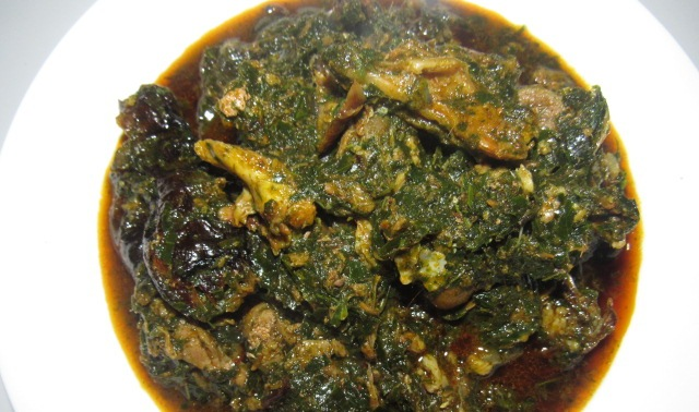 Afang soup without spinach