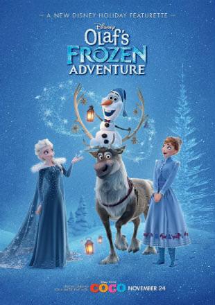 Poster of Olaf's Frozen Adventure 2017 HDRip 720p Dual Audio Hindi English