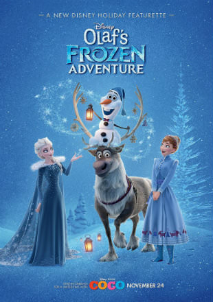 Poster of Olaf's Frozen Adventure 2017 HDRip 720p Dual Audio Hindi English