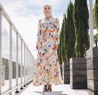 Contoh Model Baju Gamis Dan Blazer Muslim Bahan Sifon