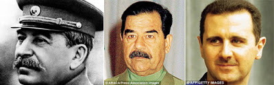 Stalin, Hussein and Bashar Assad