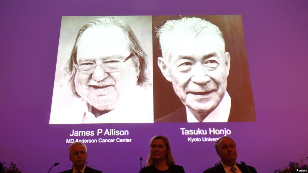 James Allison de EEUU y Tasuku Honjo de Japón lograron avances para combatir células tumorales  / AP