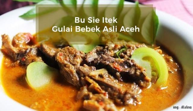 Bu Sie Itek Nasi Gulai Bebek Lezat Asli Aceh