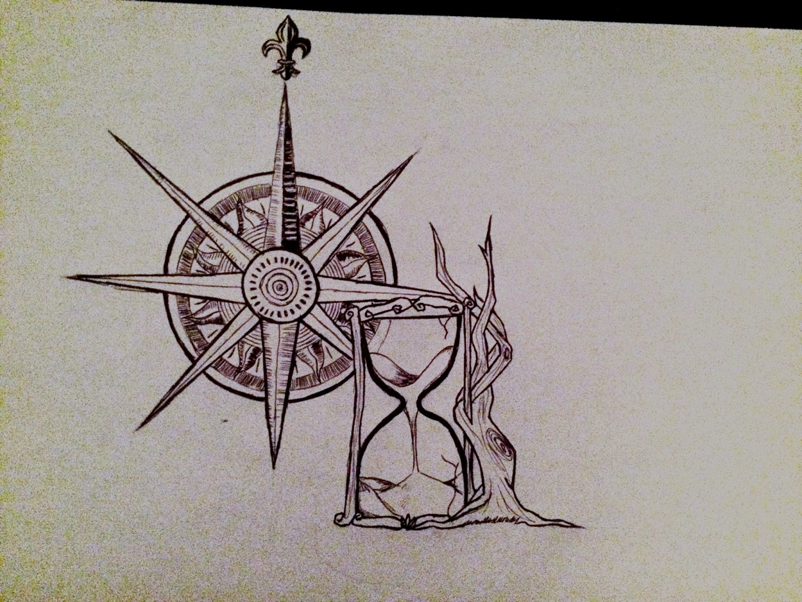 Los Dibujos De Sergio Llorca.: Tattoo Brújula Con Reloj