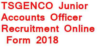 TSGENCO Junior Accounts Officer