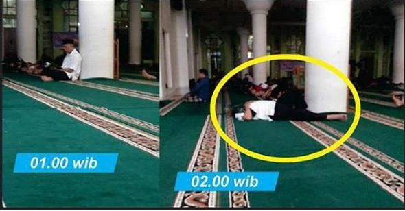 Walikota Ini Tahun Baruan di Masjid, Tilawah Hingga Tertidur