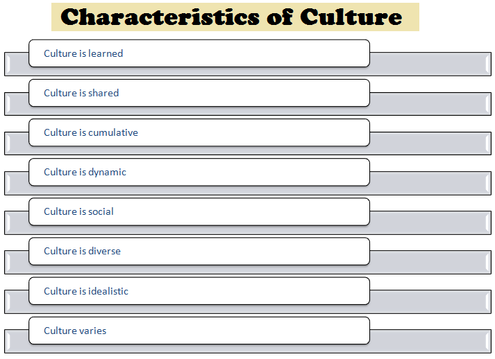a discussion on the importance and characteristics of culture The culture/learning style connection relationship of learning and culture is through direct discussion great importance on the early socialization.
