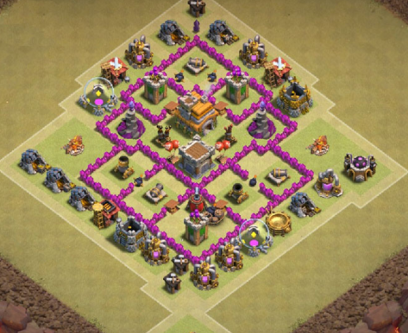 Anti Giant Healer TH6 War Base