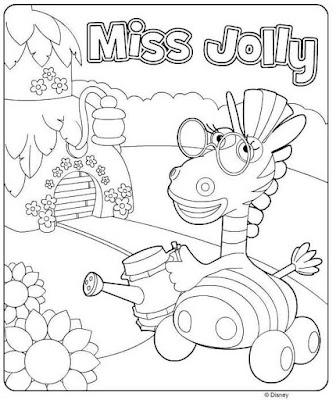 miss jolly раскраска
