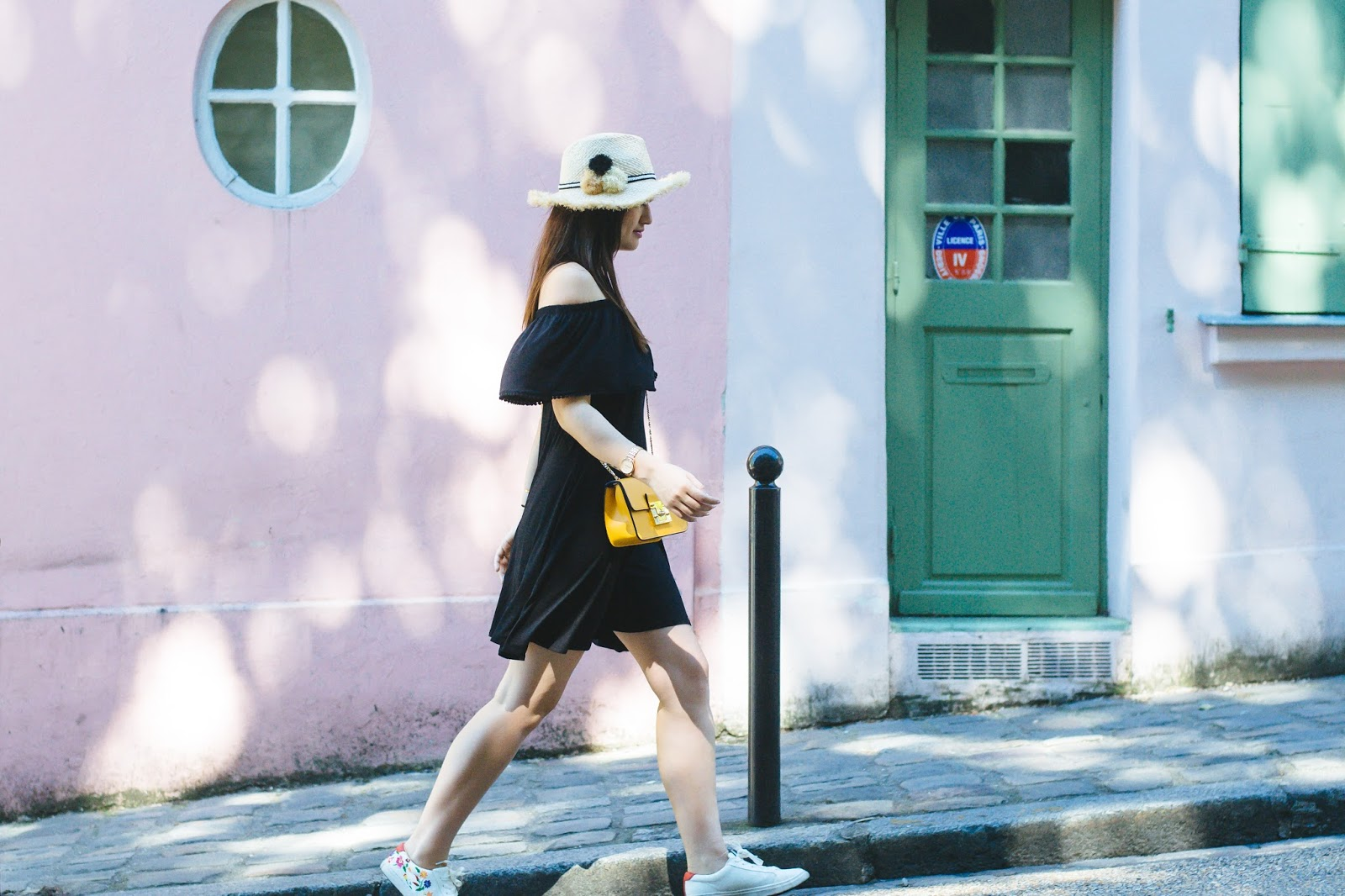 marks&Spencer-blackdress-paris-summerlook-styling-parisianstyle-meetmeinparee