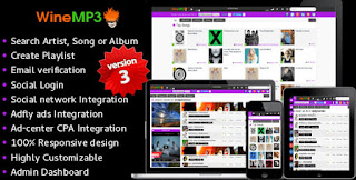 WineMP3 Music Search Engine v3 Php Script