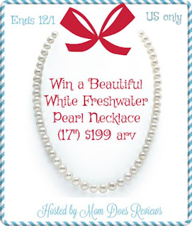 Enter the White Freshwater Pearl Necklace Giveaway. Ends 12/1