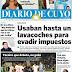 Tapa Diario De Cuyo (San Juan) 12-03-2017
