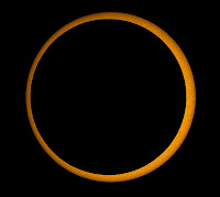 Annular Solar Eclipse seen from Kanyakumari