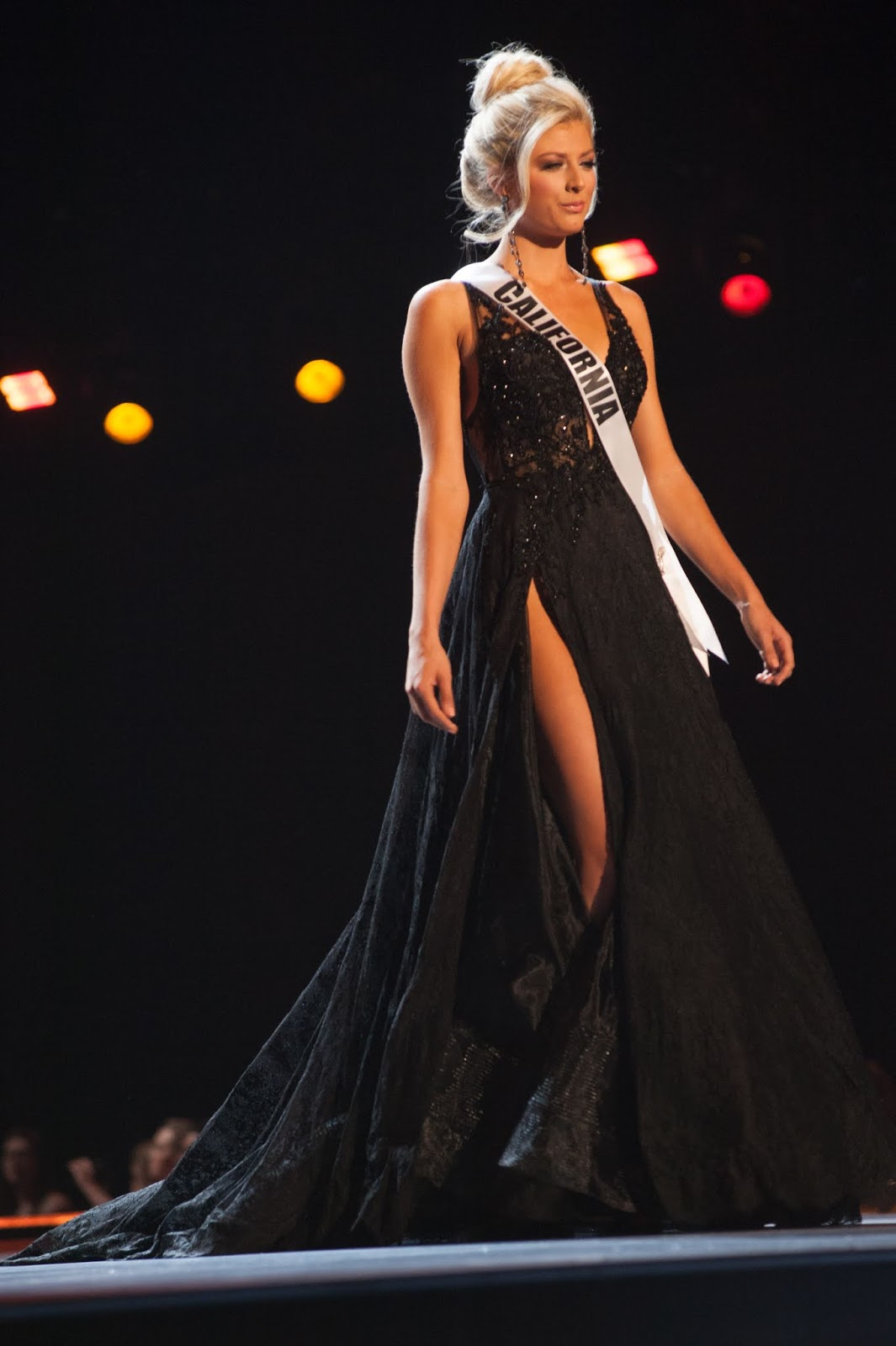 Miss Texas - Logan Lester. Miss Texas is a shimmering golden goddess! She  wore a sheer, body fitting, bustier and unconventional gold gown by New  York-based ...
