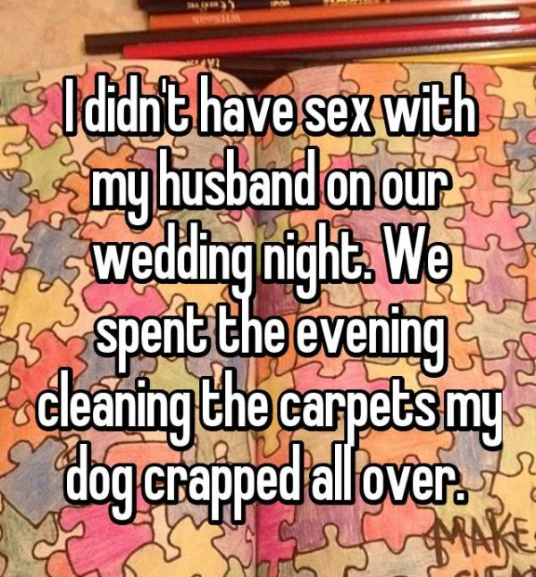 Brides share their stories about what went down on their wedding nights of your life after tying the knot most couples head to the bedroom to get busy but things went a little bit differently for these couples junglespirit Gallery