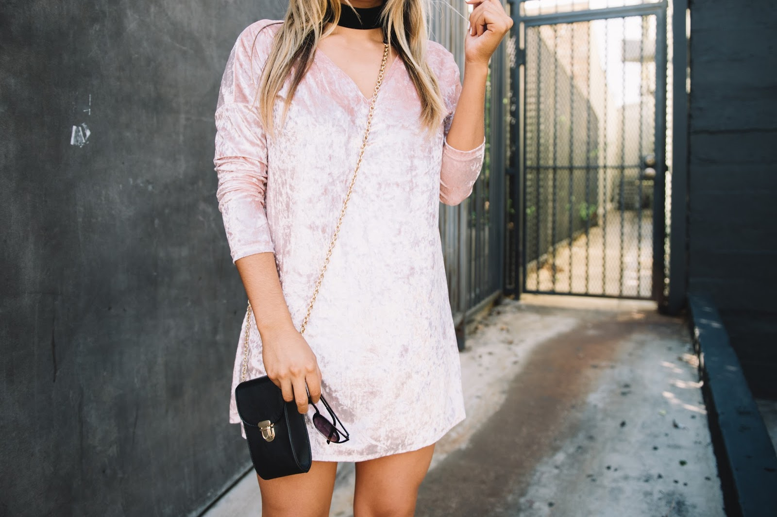 Velvet Dress -- Style Blogger @taylorwinkelmeyer