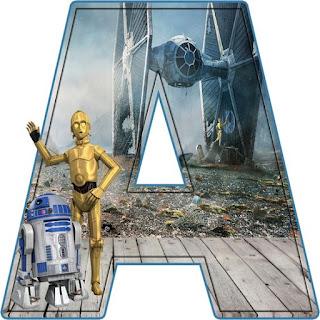 Abc de R2D2 y C3PO de Star Wars.