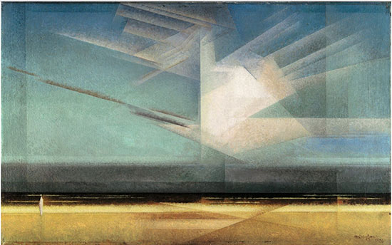 Cloud Bird, 1926 painting by Lyonel Feininger (Source: Lyonel Feininger, Pinterest)