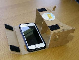 نظارات غووغل الكرتونية Cardboard متوافقة مع الآيفون