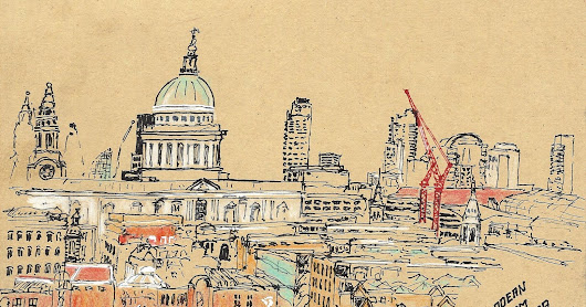 2016/11 - London - Viewing St. Paul's Cathedral from Tate Modern