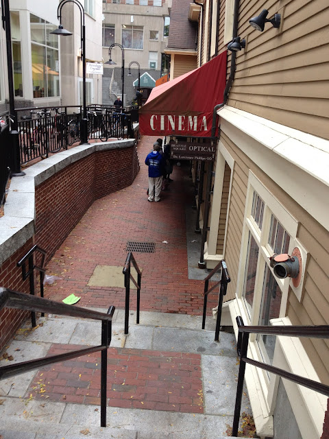 Exterior shot of The Brattle Theatre in Harvard Square Cambridge, MA
