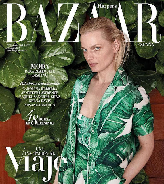 Fashion Model, @ Guinevere van Seenus on Harper's Bazaar Spain June 2016