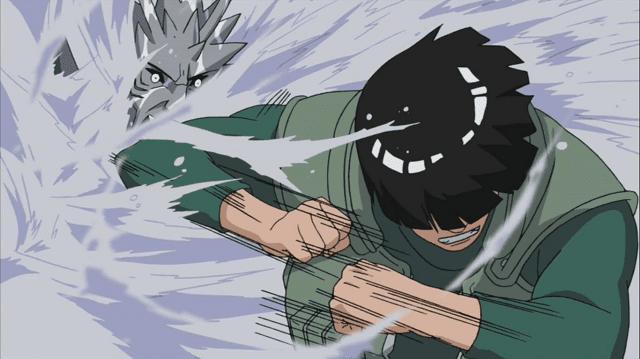 Might Guy menghajar habis-habisan Kisame dengan Taijutsu-nya