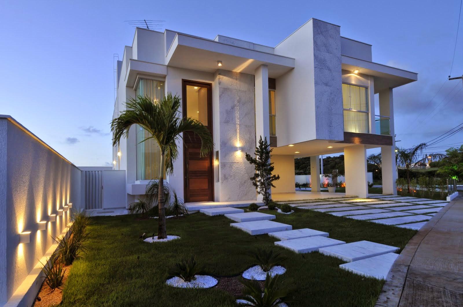 Construindo minha casa clean fachadas de casas quadradas for Modelos de fachadas de casas