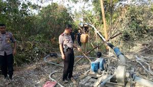 Di Razia Petugas Puluhan Pelaku PETI Berhamburan Lari Ke Hutan