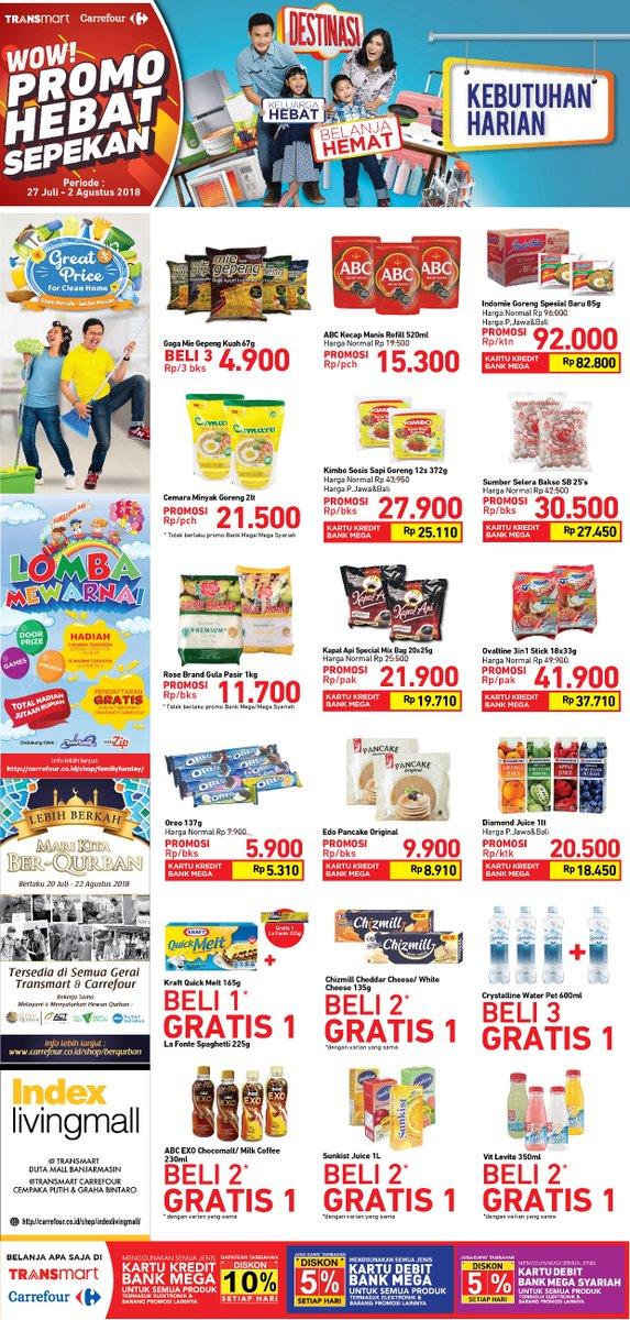 Carrefour - Promo Katalog Hebat Sepekan (27 - 02 Agustus 2018)