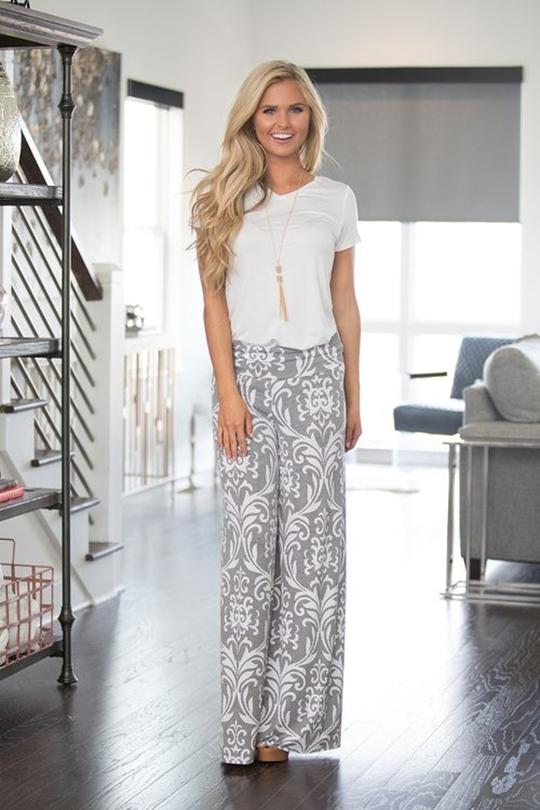 pantalona com estampa na moda